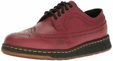 Mens Dr Martens Gabe 5 Eye Lace Up Wing Tip Shoe Cherry Red Temperley 22187600