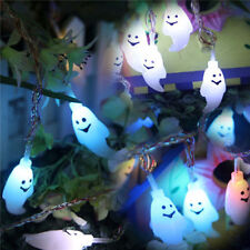 Halloween 20 LED Ghost Colorful String Lights Garden Courtyard Holiday Decoratio