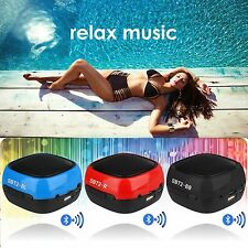 Wireless Mini Portable Bluetooth Speaker Mic for Phone Pads Tablet PC Laptop UK