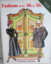 NORMA LU MEEHAN ~ FASHIONS OF THE '40s & '50s PAPER DOLL WARDROBE - NEW NOS