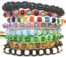 NEW HANDMADE BEADED BRAIDED UNISEX SURFER FRIENDSHIP BRACELET / ANKLET MIXED COL