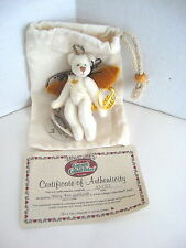 GANZ ~ COTTAGE COLLECTIBLES MINIATURES  WHITE ANGEL BEAR  COA BAG TAGS - NEW NOS