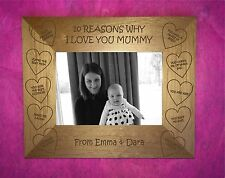 Personalised Mother's Gift 10 Reasons Why We /photo frame Mummy Mum Present