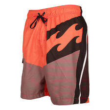 Billabong Over Mid Length Board Shorts in Real Red