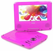 Alba 7 Inch Portable DVD Player With Swivel Screen - CDVD7SW Pink New Design