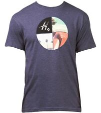 Hurley Four Up Short Sleeve T-Shirt in Heather Navy