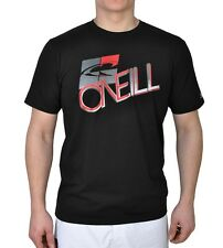 ONeill Hybrid Crooked Rashvest Short Sleeve T-Shirt in Black Out