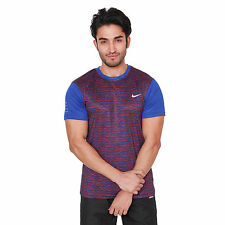 Branded Dry Fit Element Hz Blue Half Sleeves Round Neck T-Shirt Men & Boys