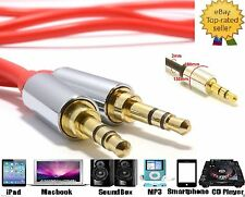Aluminium PRO 3.5mm Jack to Plug Stereo Audio Cable Lead For Mobile Phone Speake