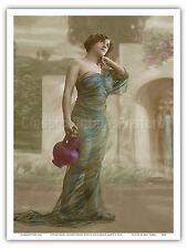 Classic Vintage Hand-Colored French Nude Vintage Erotic Art Poster Print