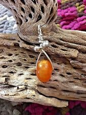 NATURAL BUTTERSCOTCH AWESOME AMBER PENDANT WITH 3 STERLING SILVER BELLS & BAIL