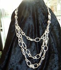 COLLIER MULTI CHAINES GROS MAILLONS