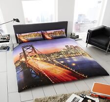 New San Francisco Duvet Cover Bedding Set With Pillow Cases Single Double King