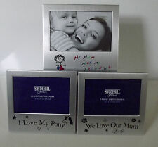Mummy Loves Me Lots I Love My Pony We Love Our Mum Photo Frames