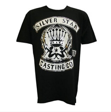 Silver Star Support Tee Black