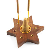 Incense stick holders cone holders ash catchers wooden ceramic sets + Nag Champa