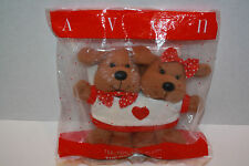 Vintage Avon Plush Stuffed  Dogs with Shirt  Valentines Day