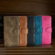 New Luxury Suede Leather Flip wallet Case Cover For Samsung Galaxy Phone Models