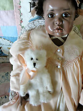 Stunning Wax Over Porcelain KREY BABY Black Child Character Doll Tanza #9/12