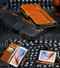 Genuine Luxury Leather Card Wallet Case Flip Stand Cover For Samsung Galaxy S8