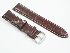 LEATHER BUCKLE WATCH STRAP FOR OMEGA SEAMASTER SPEEDMASTER PLANET O. 18 20 22mm