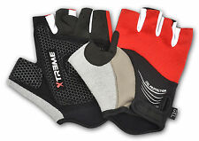 GEL PALM PROTECTION CYCLING HALF FINGER BICYCLE GLOVES OUTDOOR SPORTS VELCRO