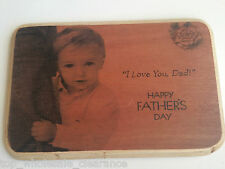 Handmade hanging wall plaque sign fathers day gift I love you dad TWC01445
