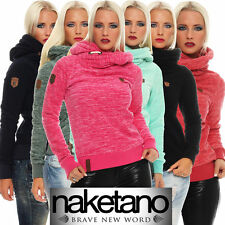 Naketano Damen Fleecepullover The Dark Knight II Hoodie Pullover mit Kapuze