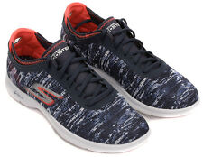 Skechers 14200 Go Step Ladies Navy Coral Lace Up Trainers
