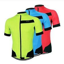 ARSUXEO Outdoor Sports Cycling Jersey Spring Summer Bike Bicycle Short Sleeves M