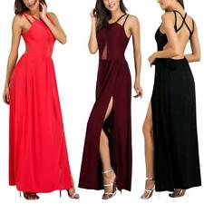 Sexy Ladies Casual Beach Club Maxi Dresses Summer Long Evening Party Split Dress