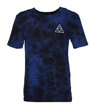 HUF Triple Triangle Wash T-Shirt Blue Men's Skateboard Shirt Size M
