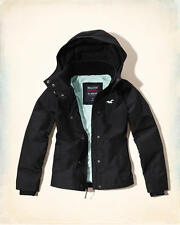 Abercrombie & Fitch - Hollister Jacket Womens Hooded Fleece Lined XS Black NWT