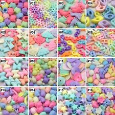 100/500pcs Mixed Colour Assorted Design Resin Beads Eco-friendly Material