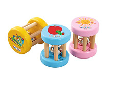 The Very Hungry Caterpillar Wooden Rattle - Eric Carle - Baby Gift FAST DISPATCH