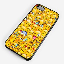 Emoji Collage Smiley Faces Colourful Pattern iPhone Samsung Phone Cover Case