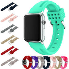 Sport Silicone Wrist Band Bracelet Strap New For Apple Watch iWatch Replacement