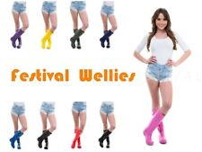 Festival Ladies Original Tall Waterproof Rain Wellies Wellington Boots All Sizes