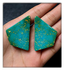 83 carats Natural Royston Turquoise Pair