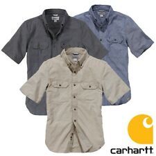 Carhartt chemise Continuer solide hommes travailleur Neuf Tailles: S M L XL XXL