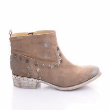 Fornarina Damen Stiefelette Stiefel Boots Sand Brushed Suede Cowgirl