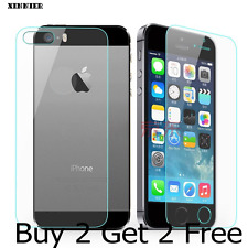 Front & Back Tempered Glass Screen Guard Protector for Apple iPhone 5/5S/SE