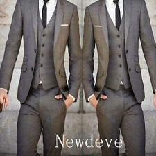 Custom Made Men Slim Fit Wedding Suits Groom Tuxedos Groomsmen Formal Suit Lapel
