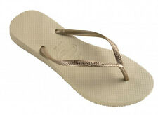 Havaianas Brasil Slim Kids Flip Flop - Sand Grey Light Golden