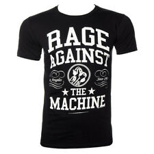 Maglietta T Shirt Unisex Rage Against The Machine Crown College Nero/Bianco