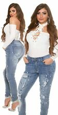WOMENS LADIES CURVY STRETCHY RIPPED DISTRESSED DENIM SKINNY JEANS PLUS SIZE10-20