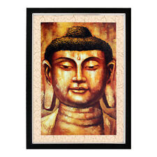 Buddha Texture Effect with Acrylic Glass Framed Painting (10B0003D2181622)