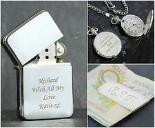 Personalised Engraved Silver Birthday Fathers Day Gift Present Ideas For Men Dad