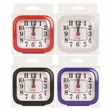 QUARTZ ALARM CLOCK TRAVEL ALARM CLOCK ANALOGUE GLOW IN DARK HAND LUGGAGE NEW
