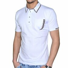 STEF WEAR - POLO MANCHES COURTES - HOMME - 705 LEOPARD - BLANC NEUF
